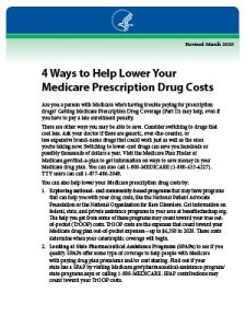 Download Guide: 4 Ways to Help Lower Your Medicare Prescription Drug Costs