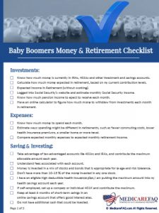 Download Guide: Baby Boomers Money & Retirement Checklist